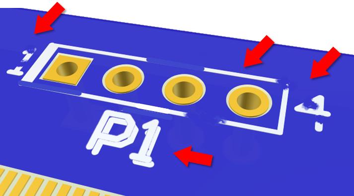 defecto PCB screen ilegible incompleto borroso