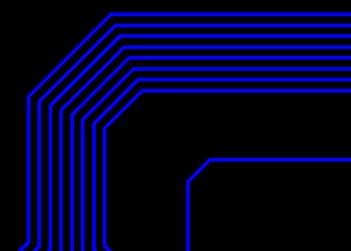 ruteado de pistas en el PCB Altium