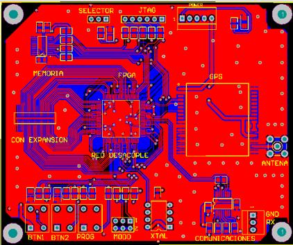 zonas de cobre o cooper pour en PCB