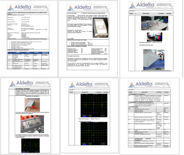 Reporte Ensayos Seguridad electrica y compatibilidad electromagnetica preconformidad1