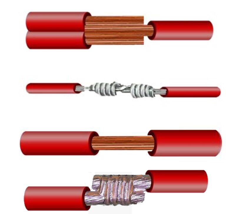 IPC 620 guia de Empalmes tipo malla soldado gancho enrrollado ventana uniones para cables eléctricos como unir cables electricos1